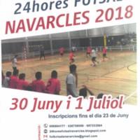 34a. edició 24 hores FUTSAL Navarcles 2018