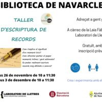 Taller d'escriptura de records 2020