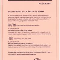 Dia mundial del càncer de mama, octubre 2018