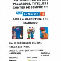 Festival infantil amb pallassos, titelles i contes de sempre