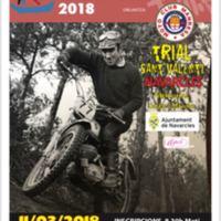 Trial Sant Valentí Navarcles. Memorial Josep Estrada. Campionat de trials socials del Bages 2018