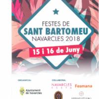 Festes de S. Bartomeu Navarcles 2018