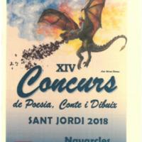 XIV  Concurs de poesia, conte i dibuix Sant Jordi 2018