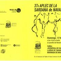 37è Aplec de la Sardana de Navarcles. Programa