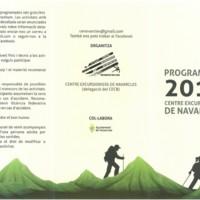 Programació 2018 Centre Excursionista de Navarcles