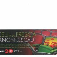 """Liceu a la fresca """"Manon Lescaut"""". Fulletó 2018"""