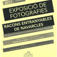 """Exposició de fotografies """"Racons entranyables de Navarcles"""""""
