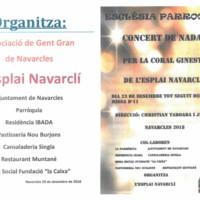 Concert de Nadal per la coral Ginesta de l'Esplai Navarclí 2018
