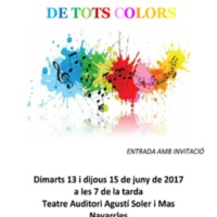 """Concert de fi de curs """"De tots colors"""""""