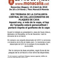 XIX trobada de la Catalunya central de col·leccionistes de plaques de cava. 2018