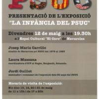 """Presentació de l'exposició """"La infància del PSUC"""""""