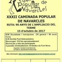 XXXII Caminada popular de Navarcles. Ruta: 90 anys de l'ampliació del terme de Navarcles